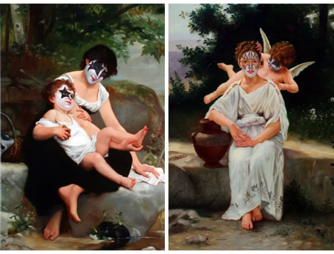 The secret history of kiss by ron english grease paint baptism