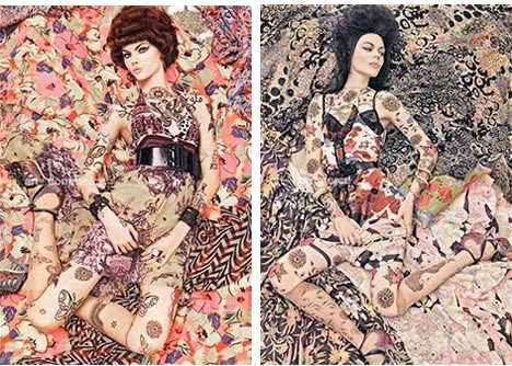 Steven Meisel patterns italian vogue 2