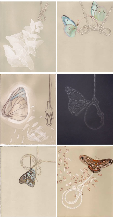 Gretchen wagoner enormous tiny art show butterflies knots