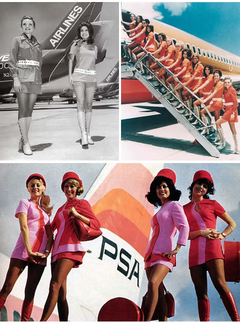Vintage flight attendant uniforms