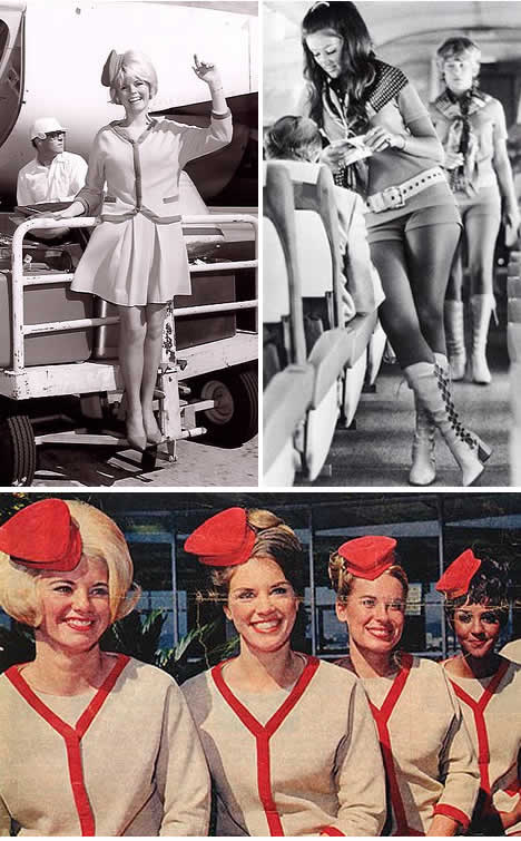 60s flight attendant uniforms