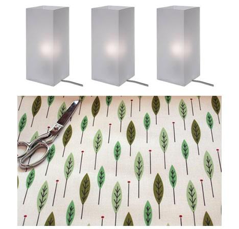 Cicada mid century fabric ikea lamp