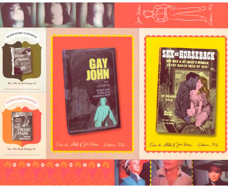 John waters home space place book postcards