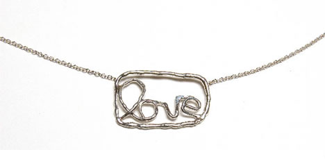 Alexandra grant love necklace watts house project silver