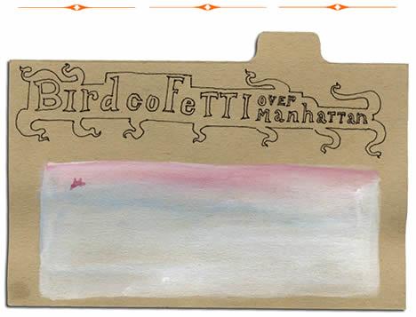 Lotte geeven bird Confetti over manhattan