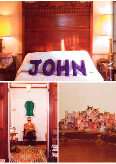John waters home space place bed room