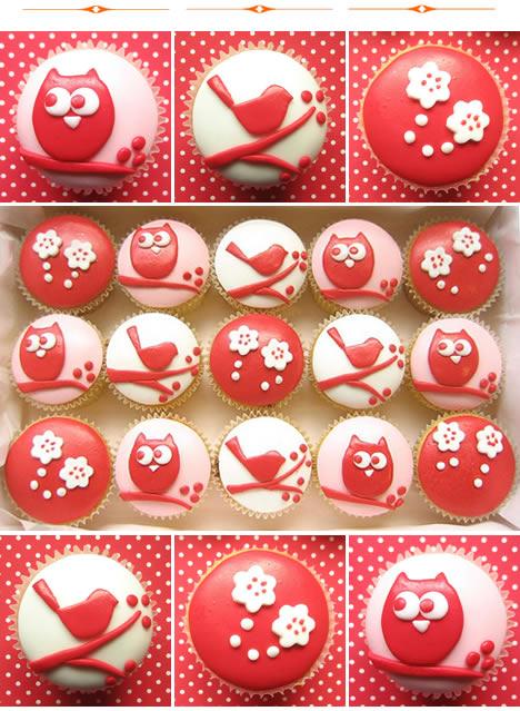 Hello naomi cupcakes owls birds