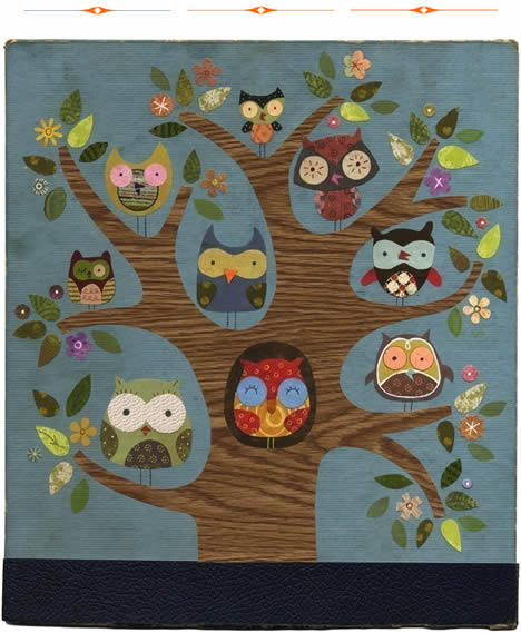 Linda solovic friends of a feather owl print
