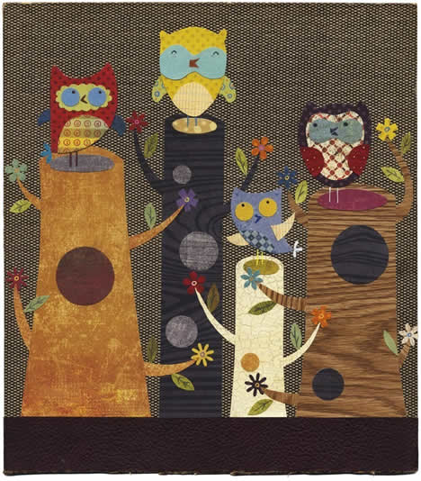Linda solovic king of the stumps owl print