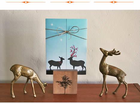Tula and steve wedding deer invitations