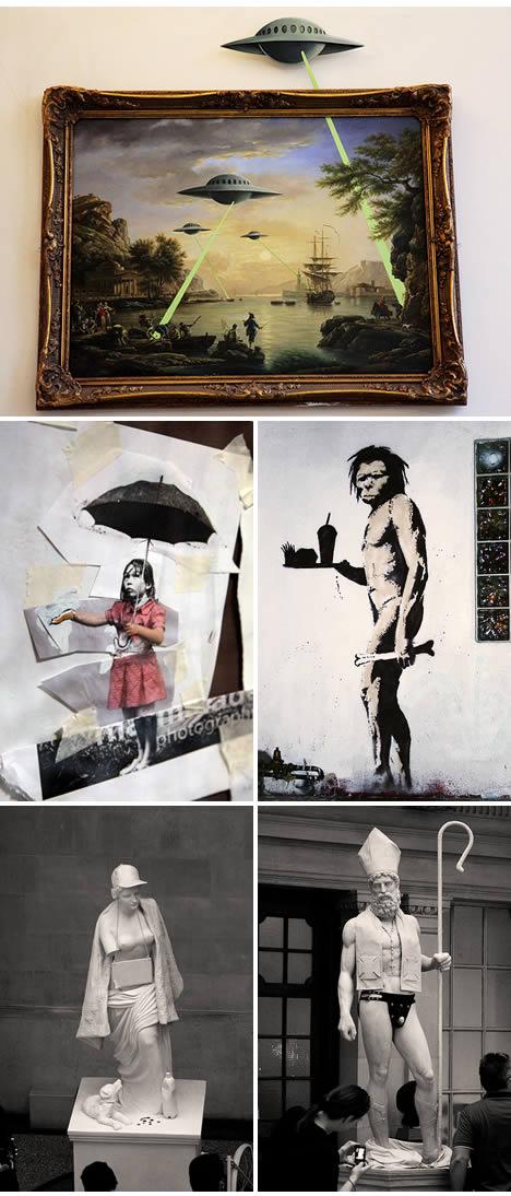 Banksy versus bristol museum venus pope