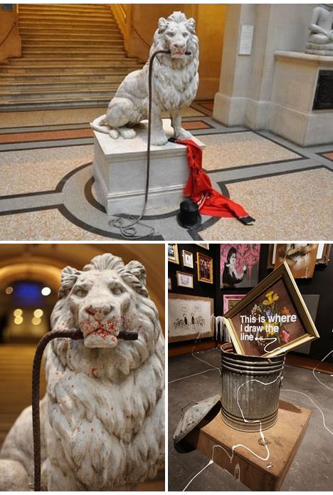 Banksy vs bristol museum lion tamer