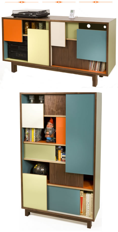 Thomas wold block party credenza bookshelf