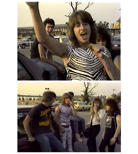 Heavy metal parking lot rocker zebra pants