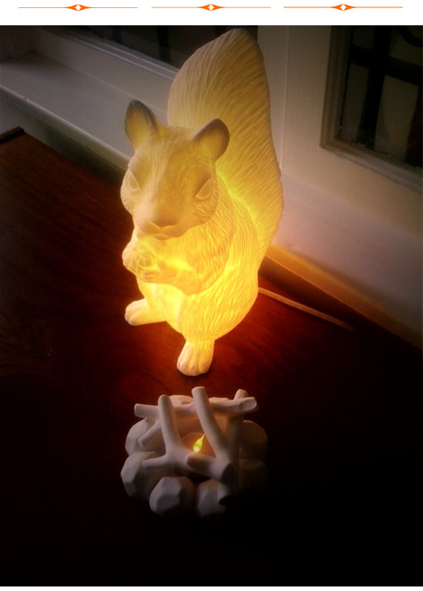 Lovely Roost Squirrel Lamp Campfire