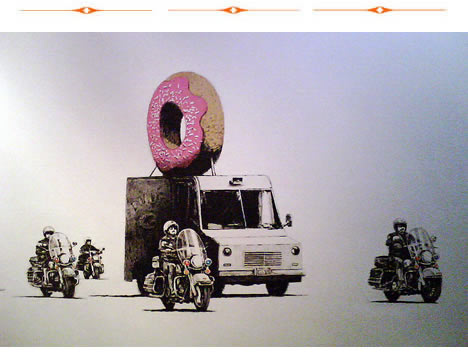 Bansky versus bristol museum donut police escort