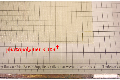 Photopolymer plate letterpress