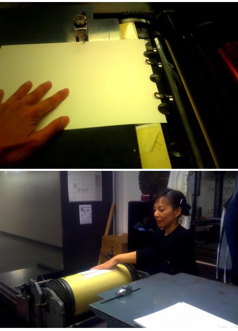 DIY letterpress class otis vandercook
