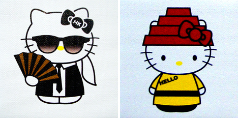 Karl Lagerfeld and Hello Kitty Diva by plasticgod