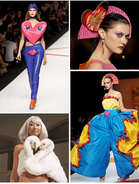Green_Agatha_Ruiz_de_la_Prada_heart_dress_runway_valentine_pants