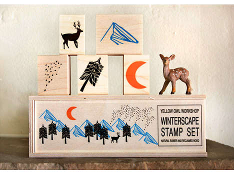 Wood_yellow_owl_workshop_winterscape_stamp_set