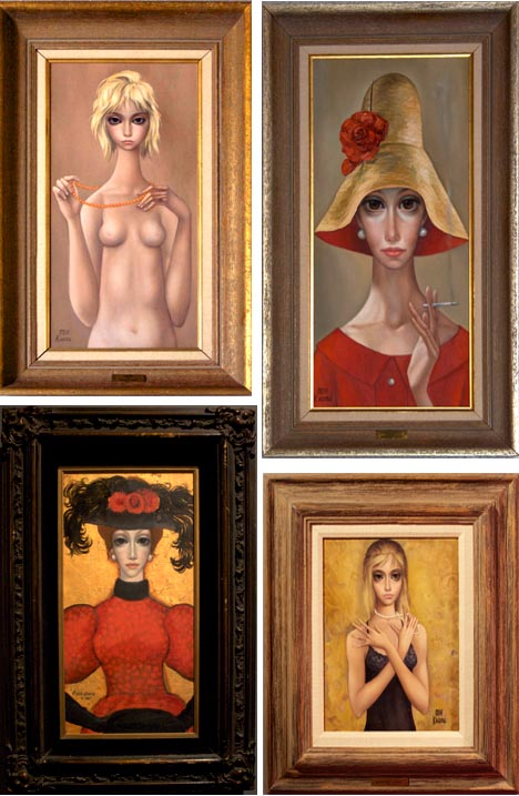 Margaret_keane_big_eyed_girl_poodle_painting_nude