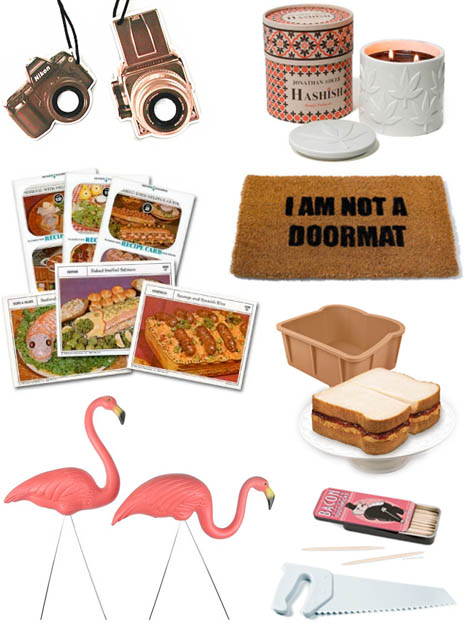 Retro_recipe_cards_pink_flamingos_divine_hashish_candle