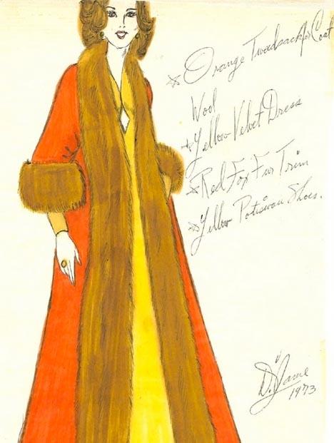Whorange_vintage_70s_fashion_womens_fashion_fur_coat_sketch