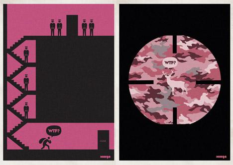 Minga_wtf_posters_design_robbery_deer_hunter