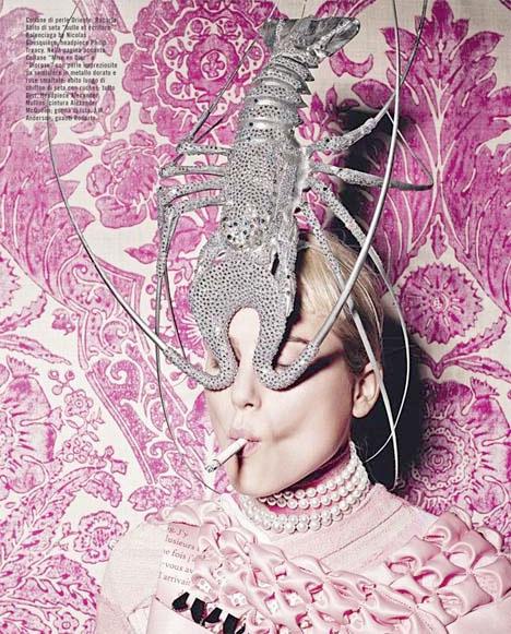 Vogue_magazine_italia_italy_Philip_Treacy_silver_lobster_hat