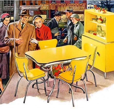 Vitage-wedding-registry-whorange-yellow-kitchen-furniture