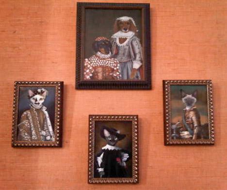 Dita-van-teese-dog-cat-portrait-painting