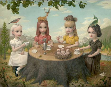 Mark-ryden-four-elements-tea-paty-girls