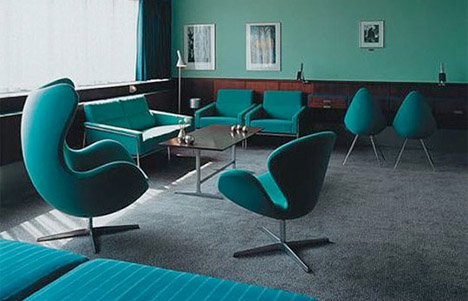 Turquoise Mid Centruy Egg Chairs Vintage