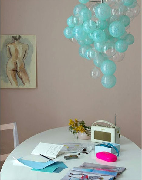 Bubble-turquoise-chandelier-glass