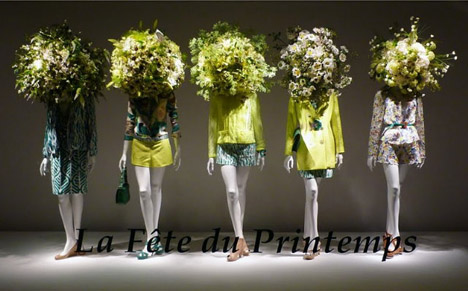 Yellow_la_féte_du_printemps_floral_window_display_french