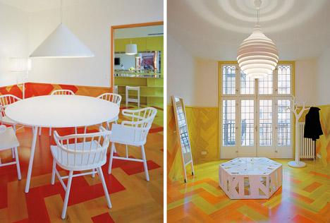 Swedish-modern_apartment-yellow-ornge-parquet-floor