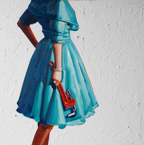 Kelly-reemtsen-aqua-vintage-dress-crowbar-art