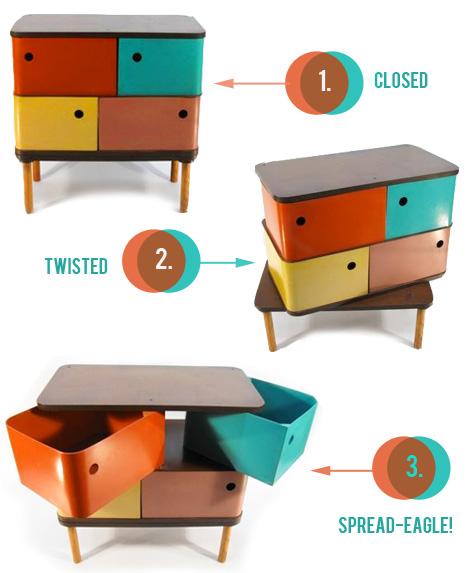 Henry Glass Swingline Cabinet Dresser Fleetwood Furniture 1951