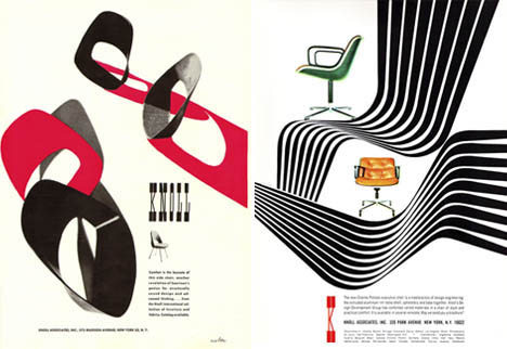 Mid-century-modern-vintage-knoll-chair-ads
