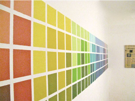 Multi-color-paint-square-wall-treatment
