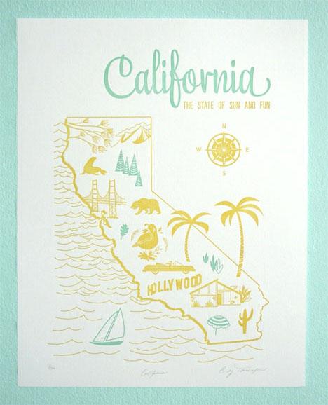 Paper-parasol-california-letterpress-poster