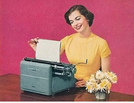 Vintage-retro-secretary-typewriter-dear-whorange