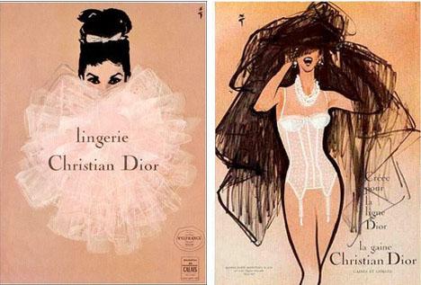 Christian-dior-vintage-lingerie-illustration