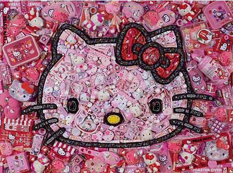 Jason-mercier-hello-kitty-junk-art