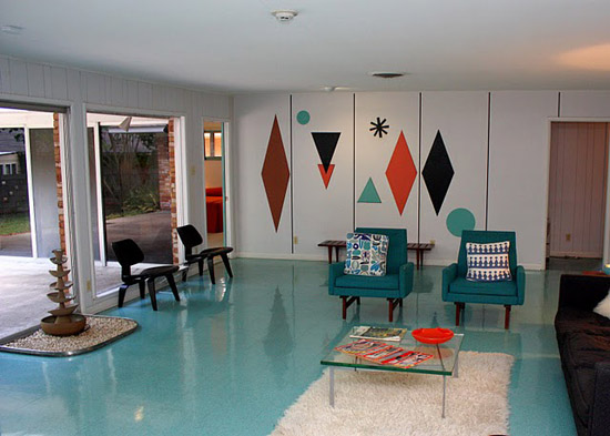 Plastic-wilson-house-texas-formica-laminate-museum-living-room