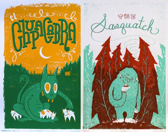 Family-tree-design-Sasquatch-chupacabra-illustration-print
