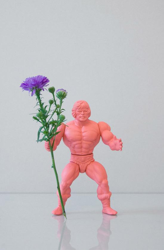 Open-studio-flower-power-action-figure-man-pink