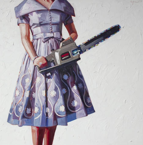 Kelly-reemtsen-vintage-dress-chainsaw-art