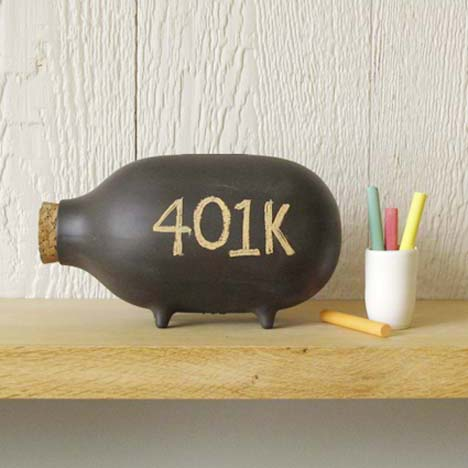 Chalk-piggy-bank